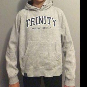 Trinity College Dublin grey sweatshirt hoodie